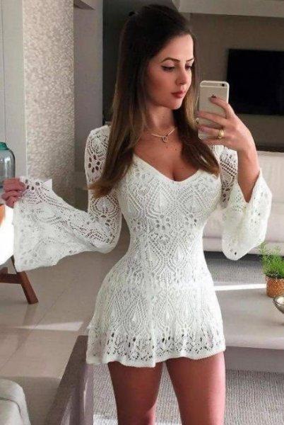 Vestido Curto Tricot - Lookstore - Look do dia - lookdodia.com