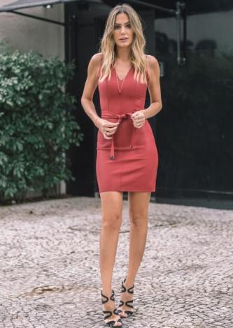 Vestido de Couro Mayara Dress e Co - Look do dia - lookdodia.com
