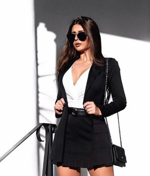 28-Conjunto Saia e Blazer Neoprene Lookstore - Look do dia - lookdodia.com