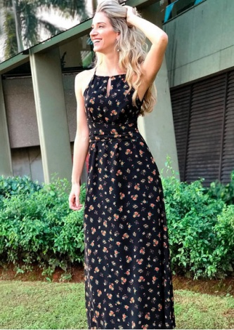 31-Vestido Longo Oscar Cava Americana Mini Liberty Zinzane - Look do dia