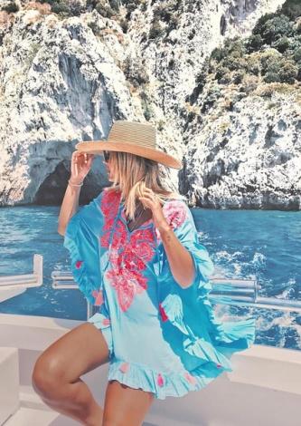 Vestido Jessy Turquesa Prayah - Look do dia
