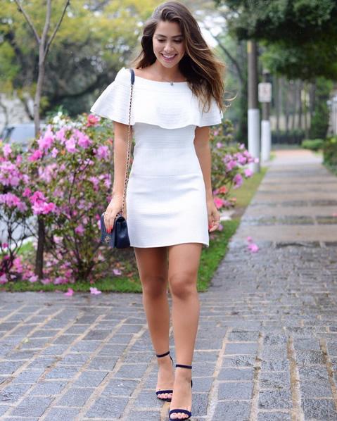 Vestido Tricot Bandagem Doce de Coco - Look do dia - lookdodia.com