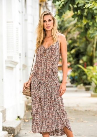 Vestido Midi Estampa Gili ATEEN - Look do dia - lookdodia.com
