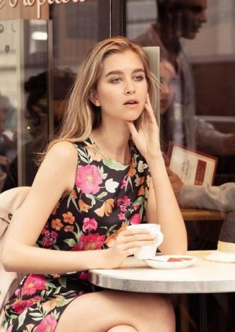 Vestido Crepe Estampado Amaro - Look do dia - lookdodia.com