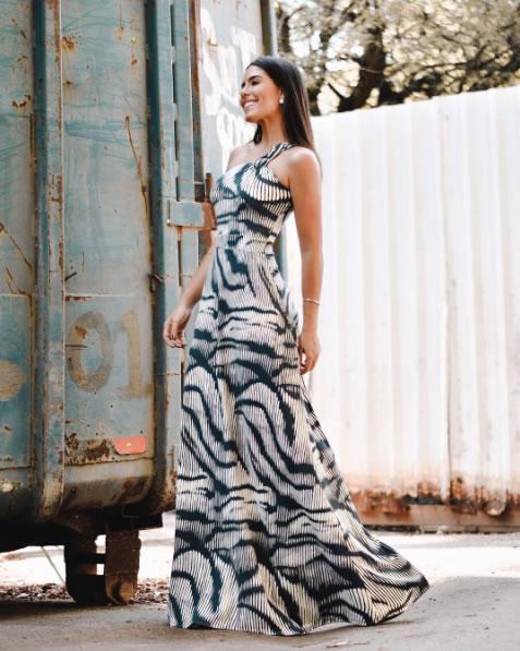 Julia Lawrence veste Zinzane Vestido Ombro Só Estampa Animal Skin - lookdodia.com