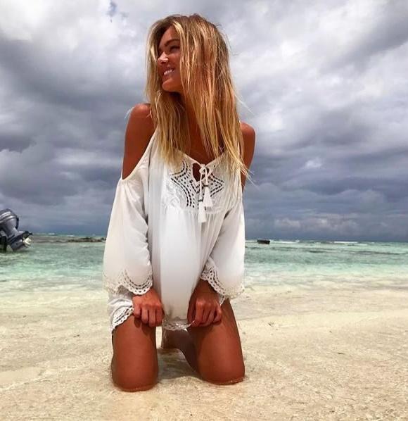 Bárbara Heck veste Prayah Dress Amazonas Offwhite - Look do dia - lookdodia.com