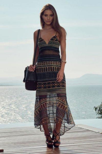 Vestido Midi Tule Bordado - Look do dia - lookdodia.com