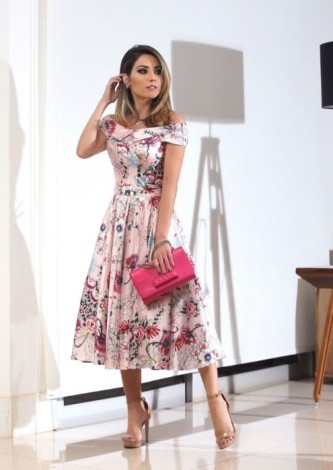 Maria Rosa Guerra veste Alfreda Vestido Saia Rodada - Look do dia - lookdodia.com