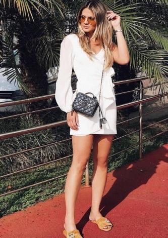 Thassia Naves veste ByNV Vestido Joana Offwhite - Look do dia - lookdodia.com