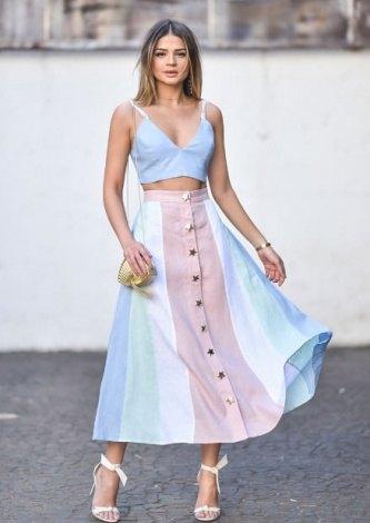 Thassia Naves veste Skazi Saia Midi Linho - Look do dia - look