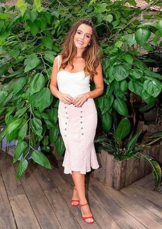 Giovanna Lancellotti veste Iorane Saia Ilhos Blush - Look do dia - lookdodia.com