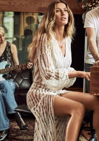 Gisele Bundchen veste RosaCha Body Selena - Look do dia - lookdodia.com