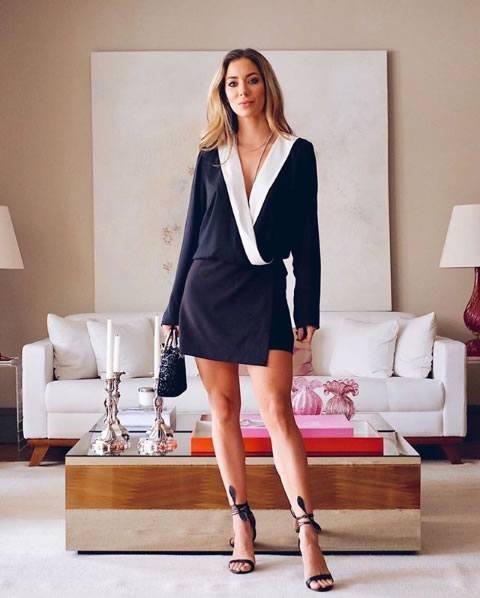 Helena Lunardelli veste Ton Age Vestido P&B Helena - Look do dia - lookdodia.com