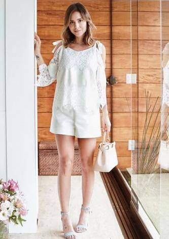 Luisa Accorsi veste Fillity Blusa Georgia Branca - Look do dia - lookdodia.com