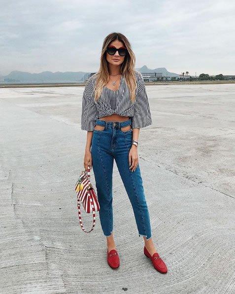 Thassia Naves veste Frammed Calca Skinny Jeans - Look do dia - lookdodia.com