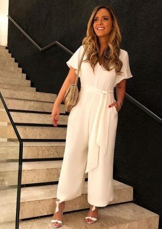 Lele Saddi veste Amissima Macacao Crepe Clarisse - Look do dia - lookdodia.com