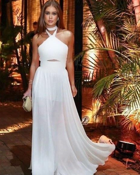 Marina Ruy Barbosa veste Le Bianchi Vestido Longo Branco - Look do dia - lookdodia.com