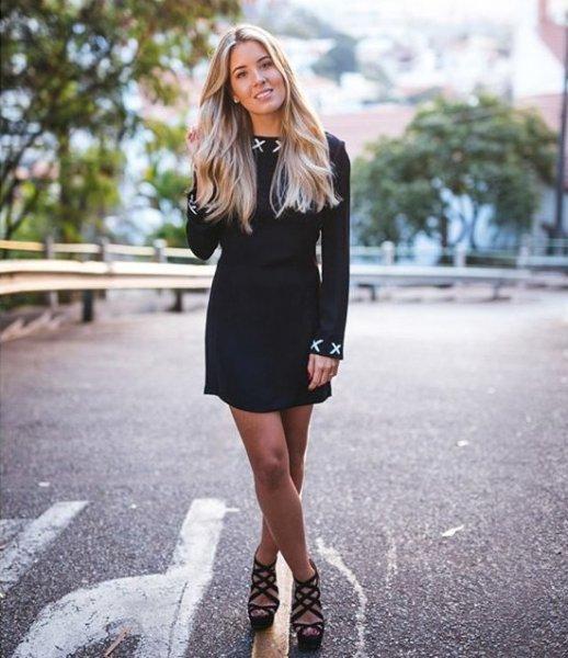 Raquel Mattar veste RM Vestido Preto Detalhes Ilhos - Look do dia - lookdodia.com