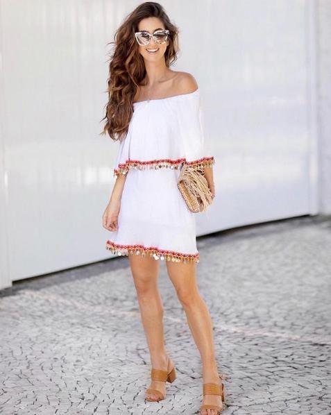 Luiza Sobral veste Market 33 Vestido Pompom Conchinha - Lookdodia - lookdodia.com