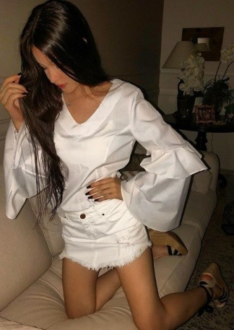 Manuela Guedes veste Due Panno Camisa Cris - Look do dia - lookdodia.com