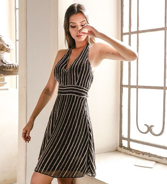 Gabriela Sales veste Dolps Vestido Bordado Party - Look do dia - lookdodia.com