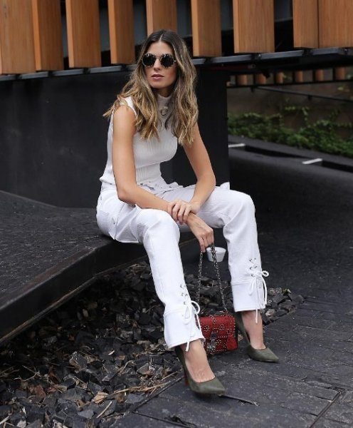 Anna Fasano veste Skazi Calca Branca Amarracao - Look do dia - lookdodia.com