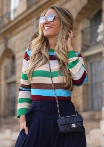 Lele Saddi veste Amissima Blusa Tricot Lurex - Look do dia - lookdodia.com