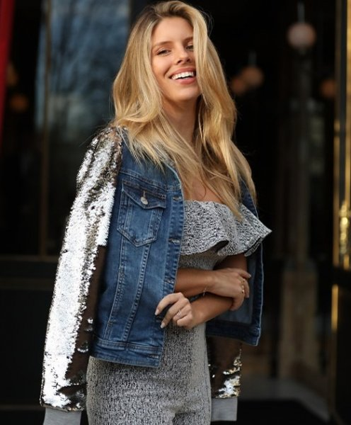 Natasha Oakley veste Iorane Silver Jacket - Look do dia - lookdodia.com