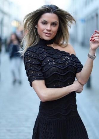 Juju Norremose veste Doce de Coco Vestido Renda Nervura - Lookdodia - lookdodia.com