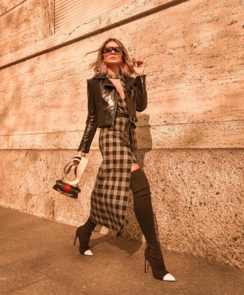 Thassia Naves veste MOB Vestido Kent Xadrez - Look do dia - lookdodia.com