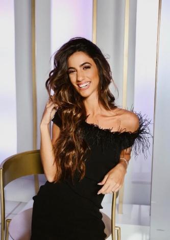Luiza Sobral veste Iorane Vestido Midi Preto Plumas - Lookdodia - lookdodia.com