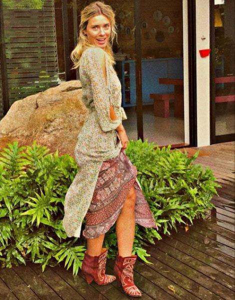 Carolina Dieckmann veste ATEEN Vestido Petrus Lurex - Look do dia - lookdodia.com