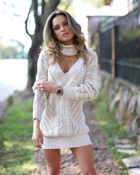 564-Juju Norremose veste Doce de Coco - Blusa Tricot Branca Tala - Look do dia