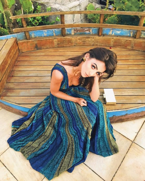 Vestido Tricot Sunset Azul - Look do dia Camila Alvarez