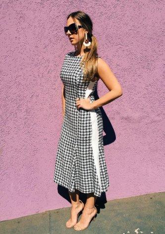 Vestido Xadrez Tweed
