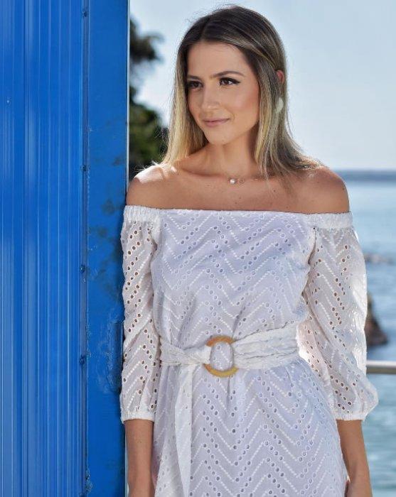 vestido off white - Look do dia