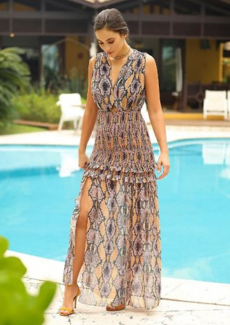 Vestido Snake — Look do dia Mariana Sanches