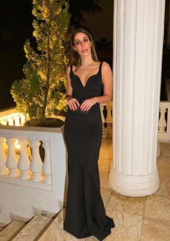 Vestido Jodri ZMR Longo Preto — Look do dia Marina Chimenti