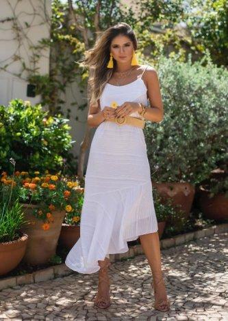 Vestido Minervina — Look do dia: Thassia Naves