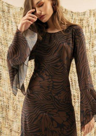 Vestido Estampa Safari Abstract