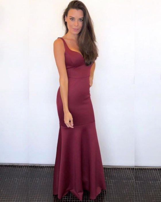 Vestido Jodri ZMR Longo Vinho — Look do dia Bruna M. Ribeiro