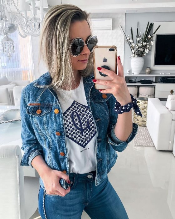 Jaqueta Trucker Jeans Feminina