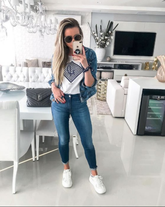 jaqueta trucker jeans feminina, damyller, francini damiani